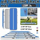 20ft Airtrack Air Track Floor Inflatable Gymnastics Tumbling Mat GYM +Pump Blue image