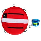 Freediving Buoy Instructor Training Safety Float + 30m Reel for Scuba Diving