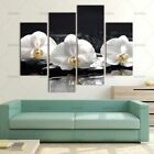 Three White Orchid Flower Picture&Wet Background Canvas Spa Painting Home Decor