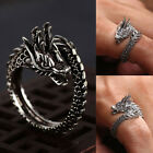 Uk_ Charm Cool Adjustable Dragon Ring Men Jewelry Opening Rings Cosplay Jewelry