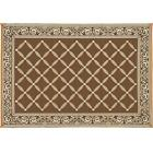 RV Camping Mat Brown Beige For Outdoor Patio Breathable Lightweight Compact