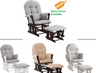 Glider Chair & Ottoman Set Microfiber Nursery Furniture Baby Rocker PICK COLOR