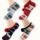 Внешний вид - Women Thick Knit Sherpa Lined Thermal Fuzzy Slipper Socks With Grippers Soft US