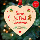 ANY NAME'S First Christmas PERSONALISED Baby 1st Xmas Tree Decorations Baubles