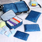6Pcs Clothes Underwear Socks Packing Cubes Storage Travel Luggage Organizer Bags