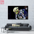 Canvas print wall art big poster Valentino Rossi Superbike Yamaha MotoGP Race fd