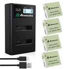 NB-6LH Battery for Canon Powershot S95 SD1300 IS SX520 HS & LCD Dual USB Charger