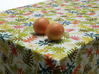 PVC Oilcloth Wipe Clean Tablecloth Cotton Table Cover Designs Round Rectangle