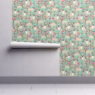 Wallpaper Roll Pug Pugs Pet Dog Dogs Flowers Florals 24in x 27ft