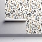 Wallpaper Roll Greyhound Wippet Lurcher Dog Puppy Watercolour 24in x 27ft