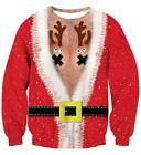 uideazone Unsiex Ugly Christmas Pullover Sweatshirts 3D Print Novelty Xmas Elf