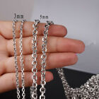 Wholesale Men Womens Silver Stainless Steel Jewelry Findings Chain 5/10meters