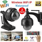 2x CMOS HD 720P Zoom PTZ Dome Outdoor Home CCTV Camera Security Night Vision LOT