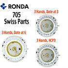 Harley Ronda 705 Quartz Watch Movement, 3 Hands, Date at 3 or 6 (Swiss Parts) image