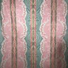 VTG Jay Yang Fabric Upholstery Drapery BTY Island Beach Pastel Summer Pink Green
