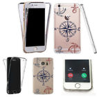 for iphone 4s case transparent 360° cover tpu multiple gel motif