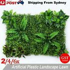 1-6 Artificial Plant Grass Mat Hedge Vertical Garden Mixed Leaves Wall Ivy Fence