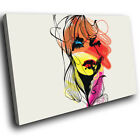 E089 Orange Yellow Red Pink Woman Modern Canvas Wall Art Large Picture Prints