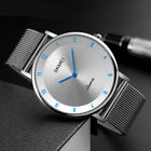 Luxury Men's Quartz Analog Watch Fashion Ultra Thin Waterproof Wristwatch image