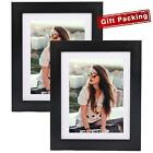 8x10 Picture Frame Photo Frame Black for Table Top Display and Wall Hanging