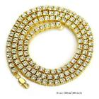 1 Row Simulated Diamond Iced Out Men Lady Bling Tennis Chain HipHop Necklace