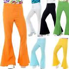 Flared Trousers Mens 60s 70s Fancy Dress Groovy Disco Hippy Adult Costume Pants