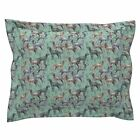 Hunting Dog Stencil Grass Setters English Setter Pillow Sham by Roostery