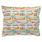 Zoo Lion Rabbit Bunny Crocodile Dog Pets Pillow Sham by Roostery