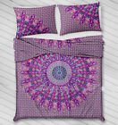 Indian Mandala Quilt Duvet Duvet Cover 100% Cotton Twin Queen Size Bedding Set