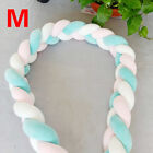 Infant Crib Bumpers Baby Bed Bedding Cot Plush Braid Pillow Pad Protector Toy