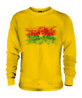 BURKINA FASO DISTRESSED FLAG UNISEX SWEATER TOP BURKINABE FOOTBALL GIFT