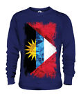 ANTIGUA AND BARBUDA GRUNGE FLAG UNISEX SWEATER TOP ANTIGUAN BARBUDAN SHIRT