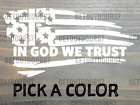 Jesus Flag Cross Sticker Decal Tattered USA US Distressed American In God We XO