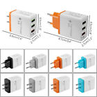 3-Port USB 4A Quick Charger 3.0 Home Travel Fast Wall Charger Adapter US/EU Plug