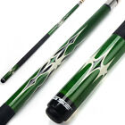 "58"" 2-Piece Canadian Maple Wood Billiard Pool Cue Stick (Green, Avail 18-21 Oz) $37.99 AUD on eBay"