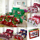 Christmas Duvet Quilt Cover Bedding Set Twin Queen King Size With Pillowcases image