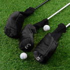 3pcs Soft Golf Club Wood Head Cover Long Neck Cover with Big Number Tags