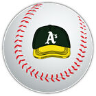 Oakland Athletics MLB Green Cap Logo Ball Car Bumper Sticker-  9'', 12'' or 14'' on Ebay