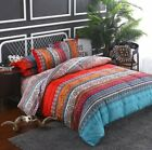 3Pcs Luxury Bedding Set Duvet Cover Quilt Comforter Covers Flat Sheet Queen King image