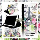 """For Various 7"""" 8"""" 10"""" Tablet - Universal FOLIO LEATHER STAND CASE COVER + Stylus"""