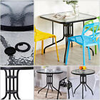 Patio Coffee Dining Table Outdoor Garden Glass Furniture for Decking Balcony Inn