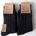 2 Paar warme Herren Wollsocken Grobstrick Socken 100% Virgin Wool 3 Farben 39-46