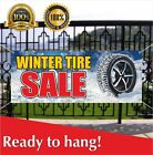 Winter Tire Sale Banner Vinyl / Mesh Banner Sign Auto Repair Clearance Service