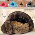 Pet Cat Dog House Kennel Puppy Cave Sleeping Bed Super Soft Mat Pad Warm Nest CG