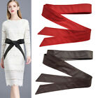PU Leather Belt Waistband for Women Men Trench Coat Overcoat Jacket Sash Tie