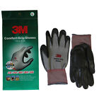 [10pairs] 3M Comfort Grip Gloves Nitrile Foam Coated Sports Work Gloves Gray