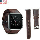 US Stock Genuine Leather Band Strap for Apple Watch Series 1/2/3/4 38/42 mm image