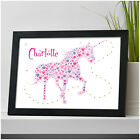 Personalised UNICORN Gifts for Girls Her Daughter ANY Name Birthday Print Gifts