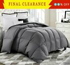 Luxury Supersoft Goose Down Alternative Comforter Twin Queen King Size, 9 Colors