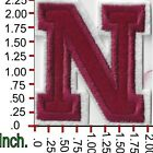 New Alphabet letters patch Varsity 2 inch Burgundy Red on white Sew or Iron on